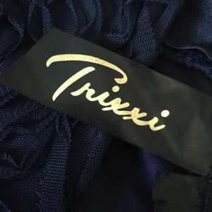 Trixxi Dresses - Trixxi Navy Blue Junior Formal Dress